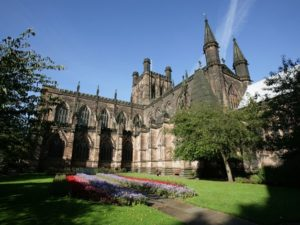 Chester Cathedral supports Head Out Not Home campaign