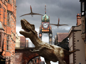 Chester city centre braced for a dinosaur invasion!