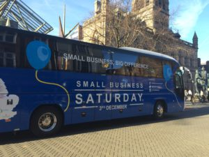 Small Business Saturday UK bus tour visits in Chester