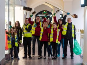 Volunteers give iconic Chester's Rows a spring clean