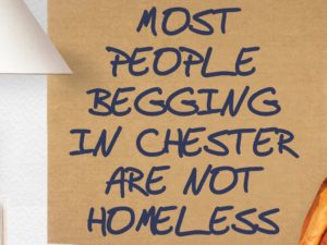 Crackdown of those who pretend to be homeless from begging in Chester city centre