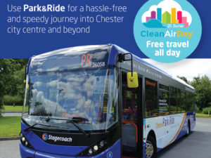 Council supports Clean Air Day 2018 with free Park & Ride travel