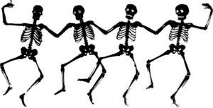 Dancing Skeletons at Grosvenor Museum