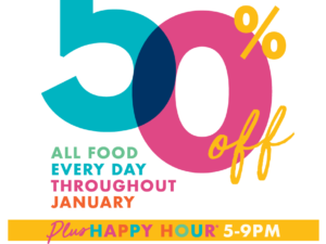 Revolution: 50% off all food everyday