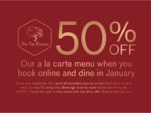 Olive Tree Brasserie 50% off