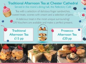 The Refectory in Chester Cathedral: Buy One Get One Afternoon Tea