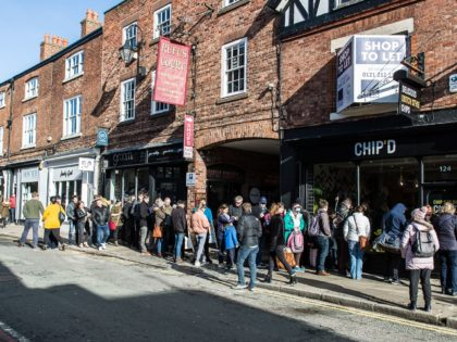 Queues dominate Northgate Street for artisan chippy opening