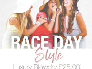 Race Day Luxury Blow Dry £25