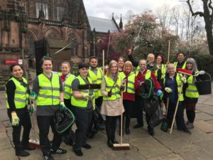 Spring clean underway in Chester city centre