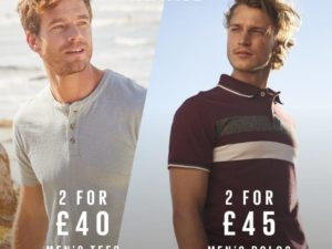 Fatface offer on Men's Polo's and T's