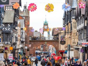 Bees, butterflies and flowers have landed in Chester city centre