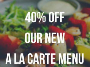 40% off new menu at Olive Tree Brasserie