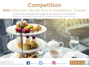 Competition to win Afternoon Tea with Deva Travel and Oddfellows