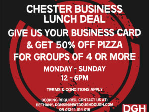 50% off Businesses Lunches at Dough Dough