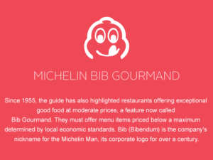 Joseph Benjamin awarded Bib Gourmand in Michelin Guide 2020