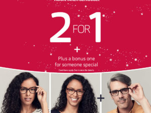 Vision Express  2 for 1 plus a pair for someone special