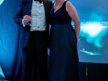 Recognition award for Chester business owner