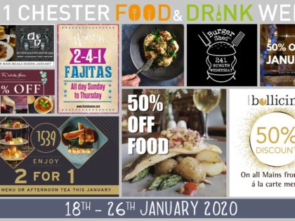 Take 50% off the bill with CH1 Chester Food & Drink Week
