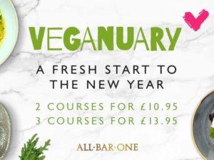 All Bar One: #Veganuary Menu