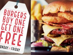 Red Lion Chester: Buy One Get One Free on Burgers