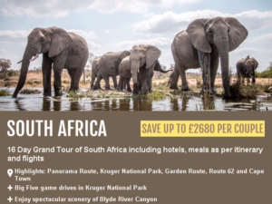 Travelbag – South Africa Tour from £1,999 per person