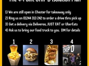 Chip'd delivered to your door, discounts on delivery and vouchers!