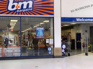 B&M Bargains open for groceries and essentials