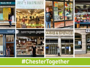 Chester city centre shows its best side as shoppers make a stress-free return to the city