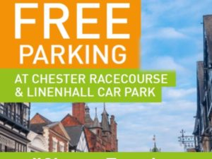 Free Parking Available at Chester Race Company Car Parks until August