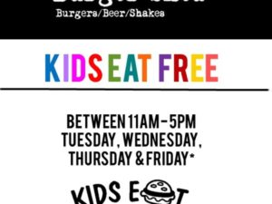 Kids eat free at Burger Shed 41