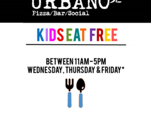 Kids Eat Free at Urbano32 this half term